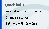 OneCare quick links