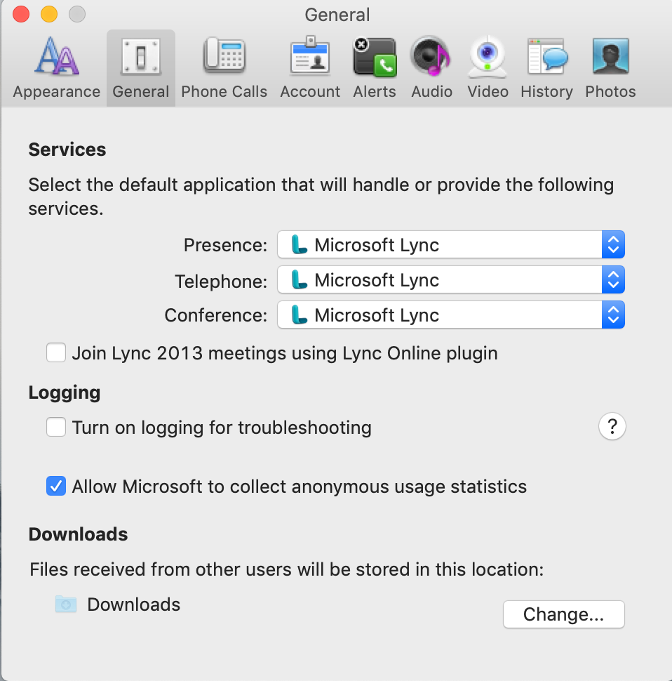 Switch your Mac's online call handler from Skype to Lync
